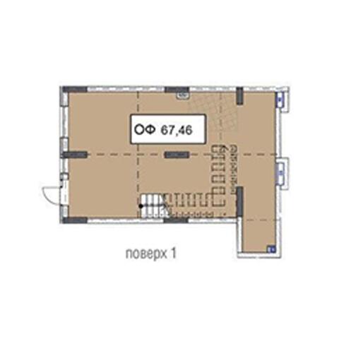 Секция 3 помещение 67,46 кв м
