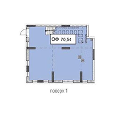 Секція 3 приміщення 70,54 кв м