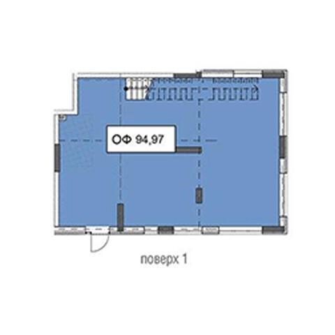 Секція 3 приміщення 94,97 кв м