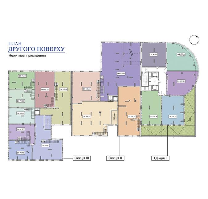 Секція 2 приміщення 168,14 кв м
