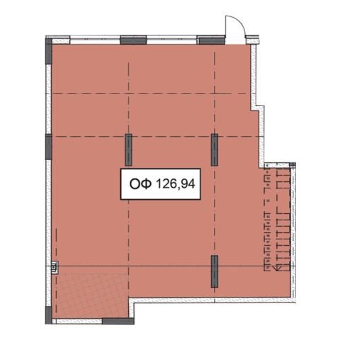 Секція 2 приміщення 126,94 кв м