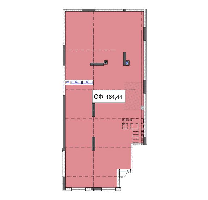 Секція 2 приміщення 164,44 кв м