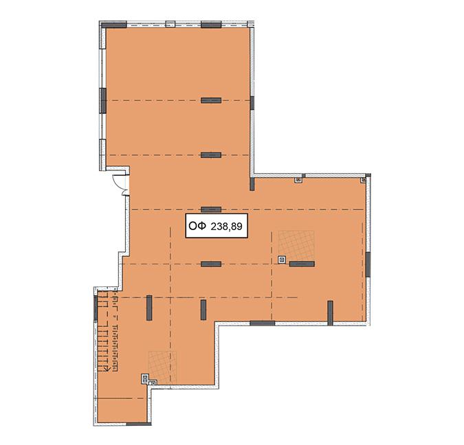 Секция 2 помещение 238,89 кв м