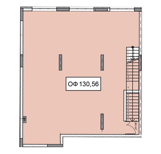 Секція 2 приміщення 130,56 кв м