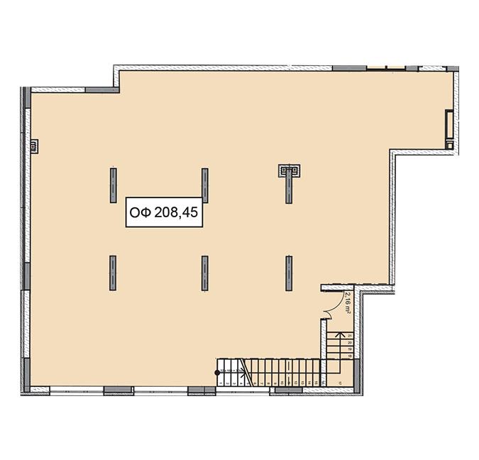 Секція 2 приміщення 208,45 кв м