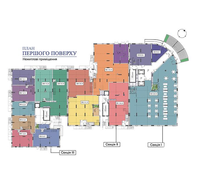 Секція 3 приміщення 155,59 кв м