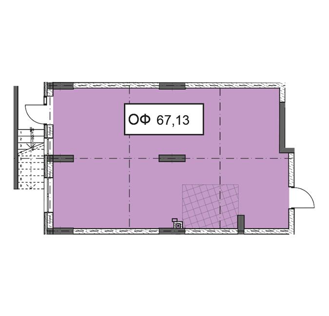 Секція 3 приміщення 67,13 кв м