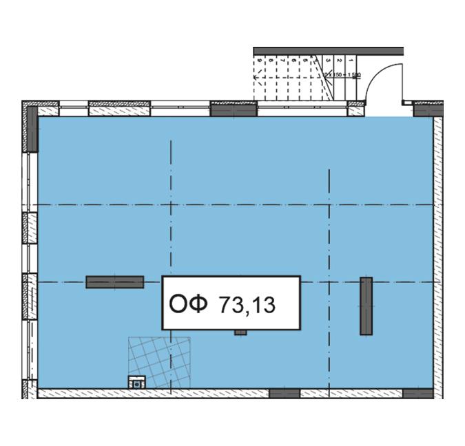 Секція 3 приміщення 73,13 кв м
