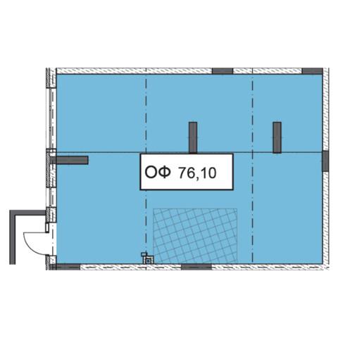 Секція 3 приміщення 76,10 кв м