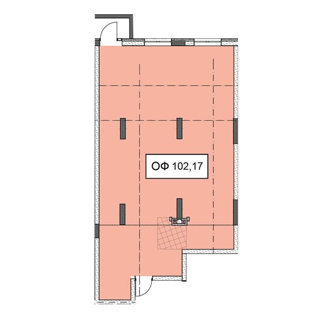 Секція 3 приміщення 102,17 кв м