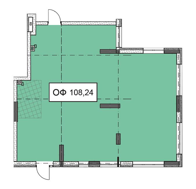 Секція 3 приміщення 108,24 кв м