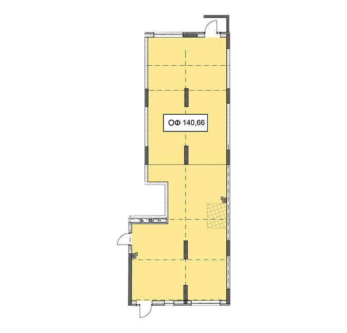 Секція 3 приміщення 140,66 кв м