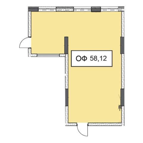 Секція 1 приміщення 58,12 кв м