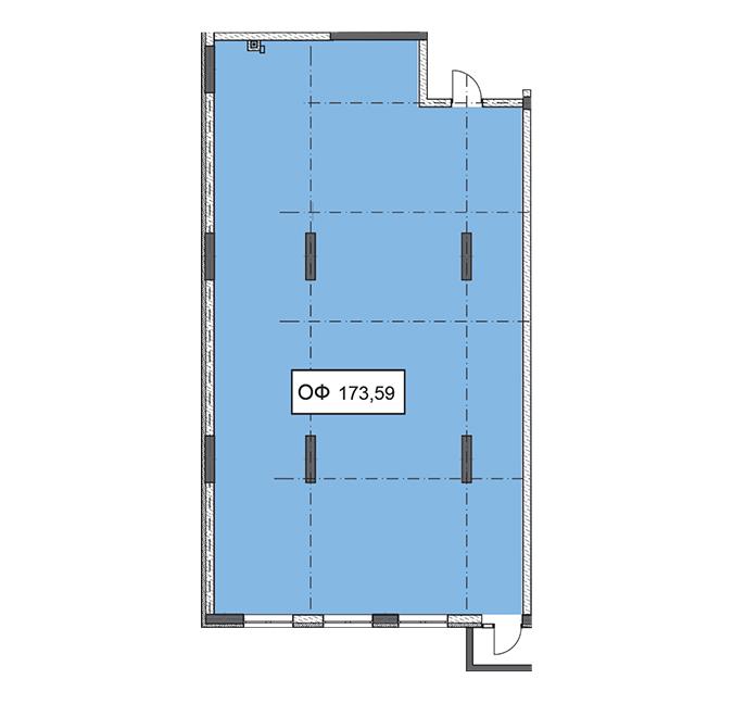 Секція 1 приміщення 173,59 кв м