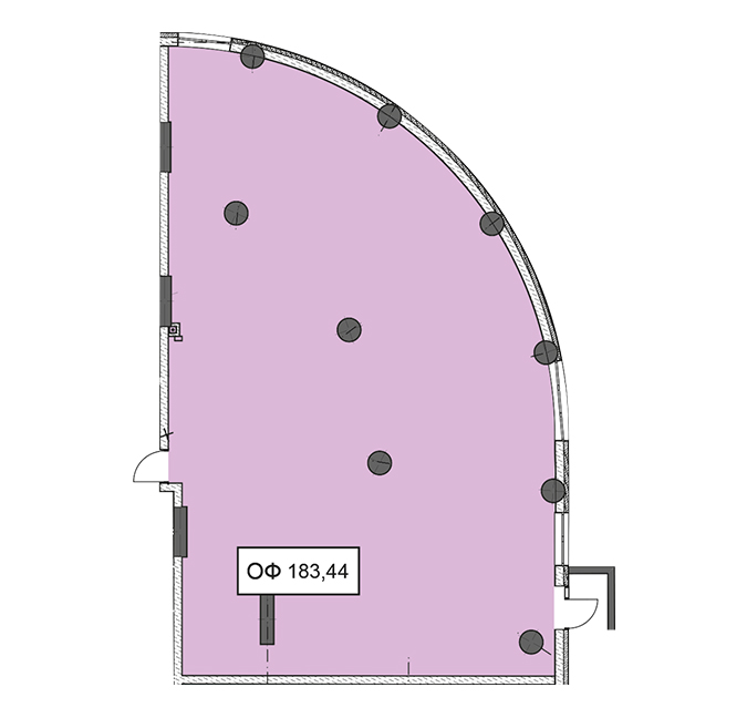 Секція 1 приміщення 183,44 кв м