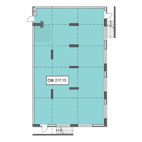 Секція 1 приміщення 217,15 кв м