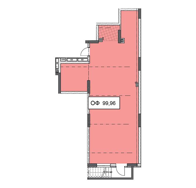 Секція 2 приміщення 99,96 кв м