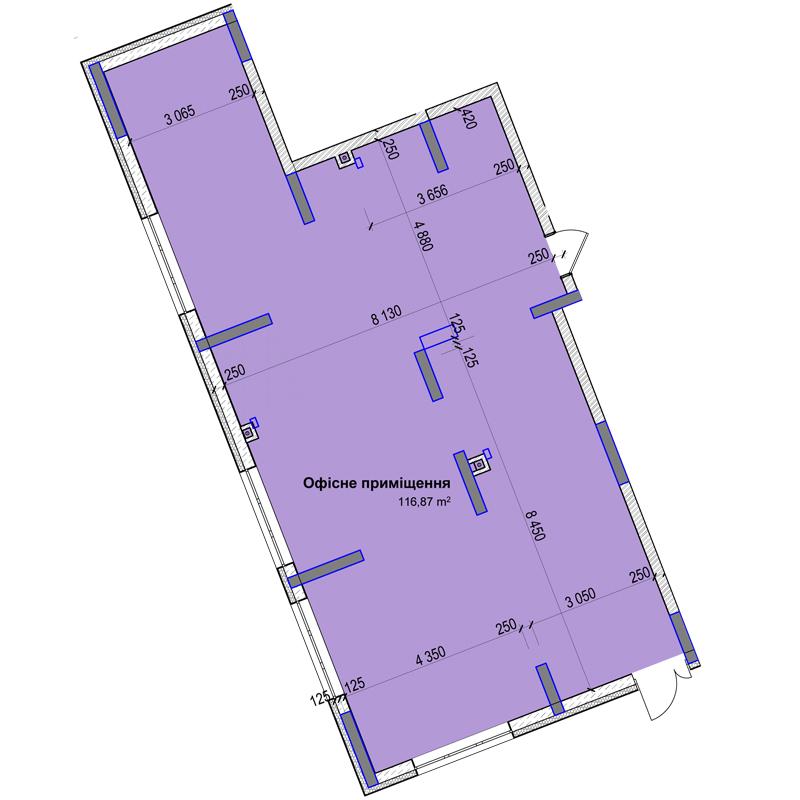 Секція 3 приміщення 116 кв м