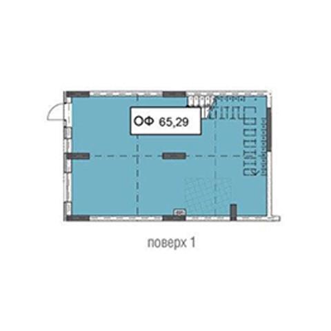Секція 3 приміщення 65,29 кв м