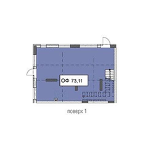 Секція 3 приміщення 73,11 кв м