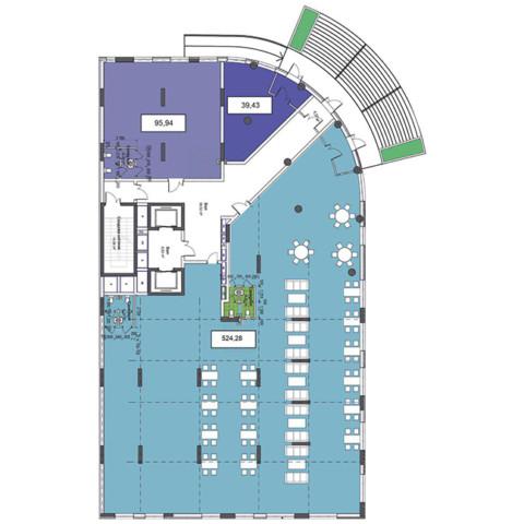 1 этаж 659,65 м.кв.
