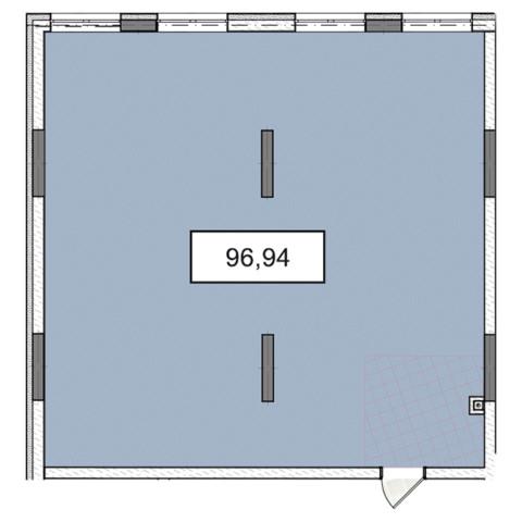 3-9 этаж офис 96,94 м.кв.