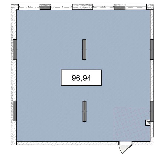 3-6 поверх офіс 96,94 м.кв.