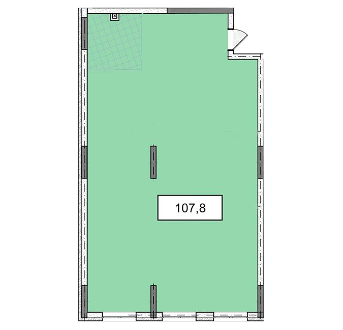 3-6 поверхи офіс 107,8 м.кв.