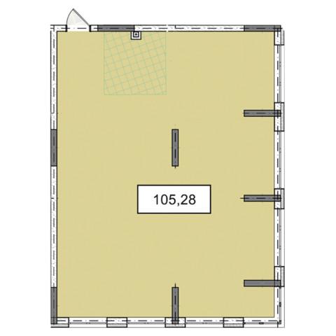3-9 этажи офис 105,28 м.кв.