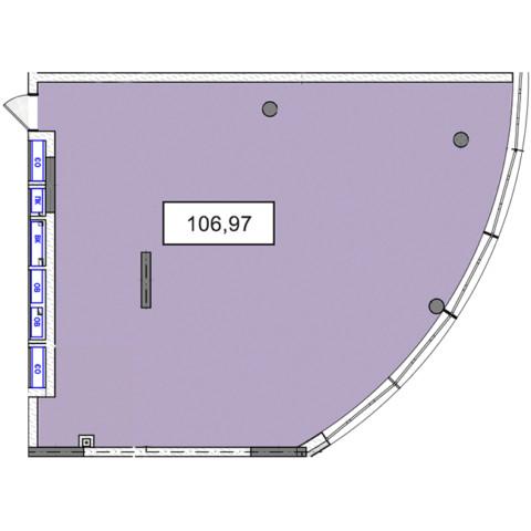 3-9 этажи офис 106,97 м.кв.