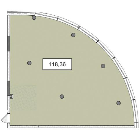 3-9 этажи офис 118,36 м.кв.