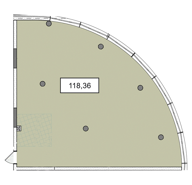 3-6 поверхи офіс 118,36 м.кв.