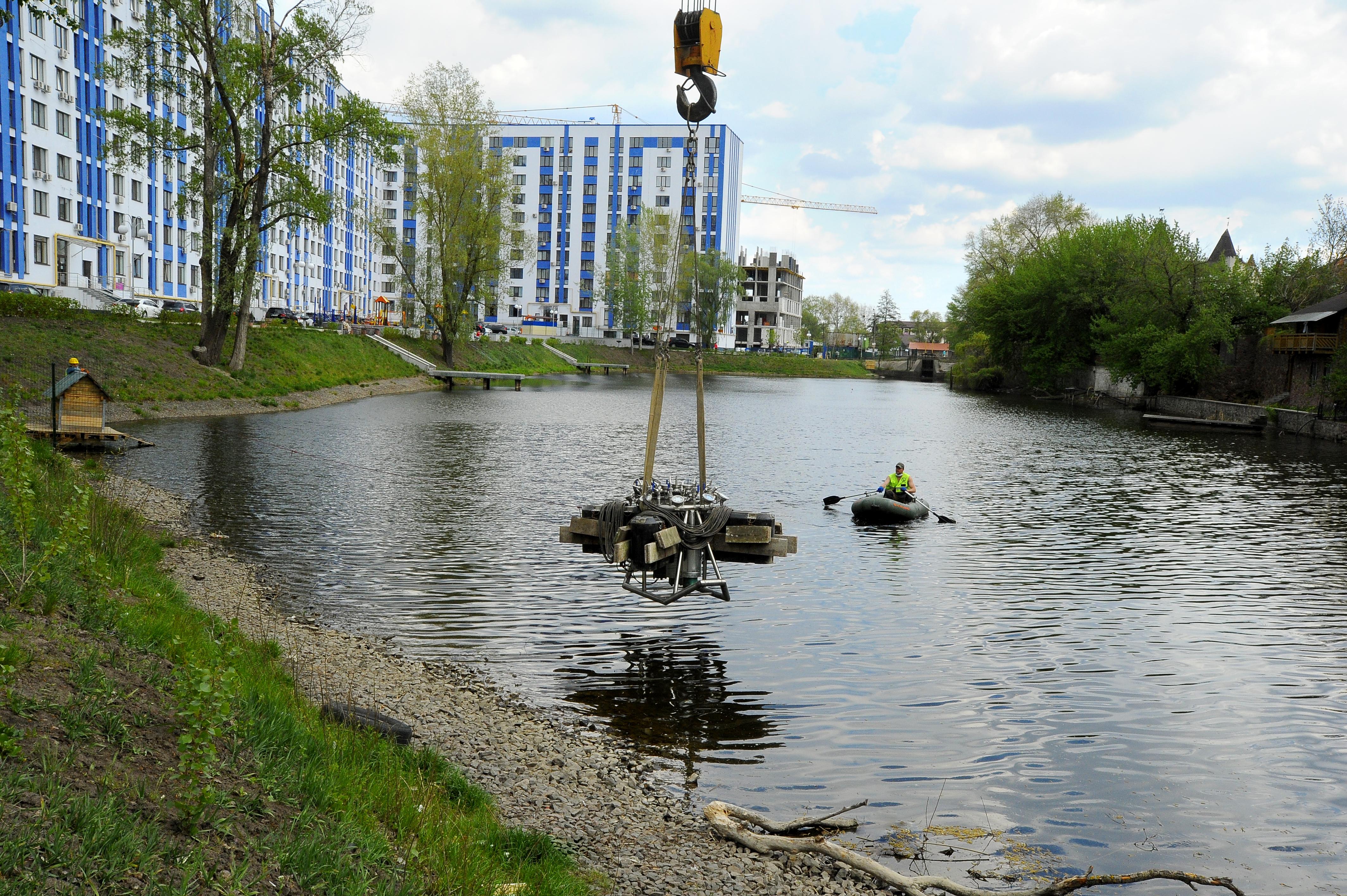 В житловому комплексі «Рів'єра» запустили фонтан