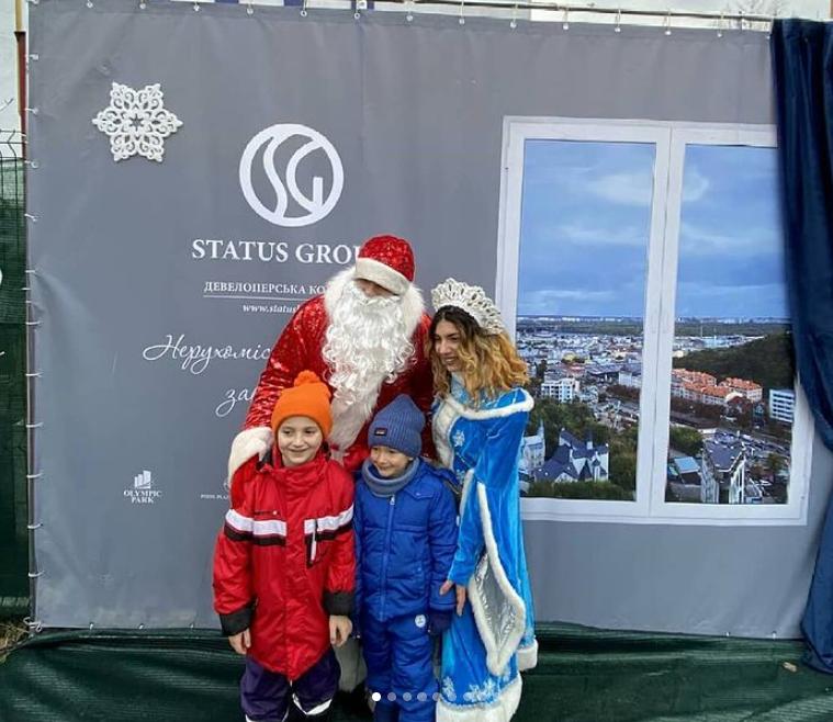 Новий рік для дітей на Осокорках -меценат Андрій Стріхарський